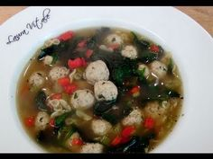 Italian Wedding Soup Recipe - Laura in the Kitchen - Internet Cooking Show Starring Laura Vitale Italian Recipes, New Recipes, Soup Recipes, Cooking Recipes, Favorite Recipes, Cooking Ham, Cooking Turkey, Cooking Videos, Kitchen Recipes