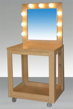 Make Up Table with Mirror   Town & Country Event Rentals
