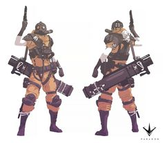 """Concept art I did for paragon's Hero """"Drongo"""" Character Concept, Character Art, Character Portraits, Fallout Concept Art, Animal Art Projects, Cyberpunk Art, Conceptual Design, Character Design References, Dieselpunk"""
