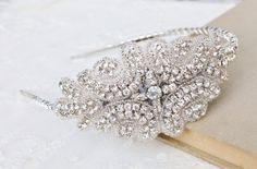 Bridal Beaded Rhinestone HeadpieceSilver & by hangingbyathread1, $88.00