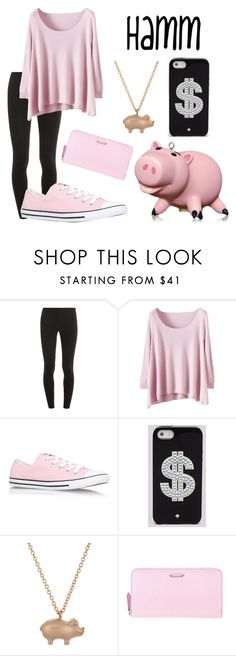 """""""Toy Story: Hamm"""" by x-sweetea-x ❤ liked on Polyvore featuring Splendid, Disney, Converse, Kate Spade, Finn and Fendi"""