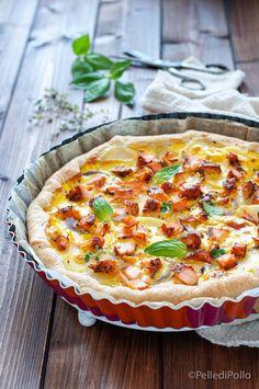 Gustosa #tortasalata di #pastasfoglia con #salmone affumicato e #patate #ricette #antipasti