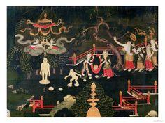Tibetan 18th century painting of Buddha.