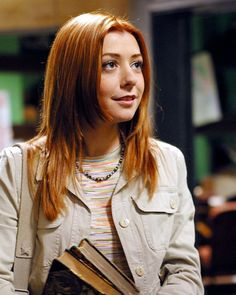 Alyson Hannigan. First of all- I love her. I've always identified with Willow in so many ways. I think she's a Soft Gamine. While her red hair isn't her natural hair color (weird, I know) it fits her so well because of her warm coloring - I'm gonna say True Autumn here.