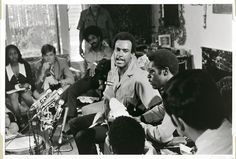 On August 22, 1970, shortly after his release from prison, Huey Newton, the minister of defense for the Black Panther Party, held a press conference at actor Jane Fonda's New York City apartment. The purpose of the meeting was to garner support for Lonnie McLucas, a member of the Party's chapter in Bridgeport, Connecticut, who stood accused of murder in a case that ensnared both the New Haven and the New York chapters of the Black Panthers...Photo credit: James E. Hinton Jr.