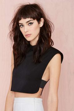 Side boob alert!!! Spaces Crop Top - Black | Shop Cropped at Nasty Gal
