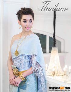 Bella Ranee pretty in blue traditional dress Thai Traditional Dress, Traditional Wedding Dresses, Traditional Fashion, Traditional Outfits, Bella Wedding Dress, Thai Wedding Dress, Thai Brides, Thailand Outfit, Thai Fashion