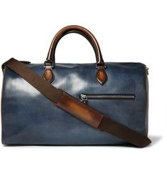 Berluti Jour-Off Polished-Leather Holdall