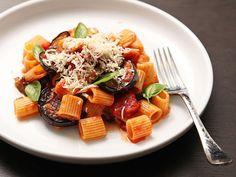 Sicilian-Style Pasta with Eggplant, Tomatoes, and Ricotta Salata (Pasta Alla Norma) Recipe on Yummly