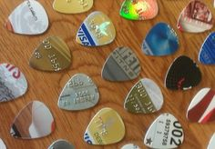 Instead of slicing up your old credit or bank cards, cut them into guitar picks.