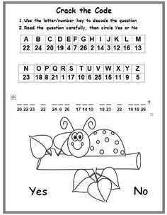 Freebie! This is a cryptogram puzzle from my phonics cryptogram series. In this activity, students will use a letter/number key to crack the code of an encrypted question with cvc words. After decoding the question, they will read it for comprehension and circle 'Yes' or 'No' for their answer. Graphics from www.mycutegraphics.com