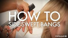How to cut side-swept bangs