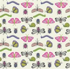 Mary Jo's Cloth Store - Fabrics - Our Friends in the Garden - A80 2 Bugs (Maywood)