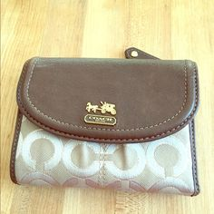 Wallet Coach wallet. Do not know if authentic. Bought here. Too small for me. Gently used. Still in good condition though. I did clean it since it was dirty when I got it. Coach Bags Wallets