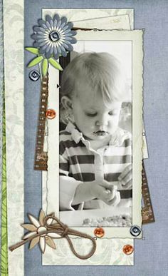Digital scrapper - custom frames make the photo fit