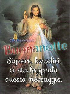 Buonanotte nuove immagini con Gesù Italian Life, Ok Boomer, Jesus Christ, Catholic, Life Quotes, Faith, Emoticon, Dolce, Good Night Msg