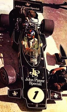 Emerson Fittipaldi - Fomula One Double World Champion 1972 & 1974 shown in the Lotus 72D