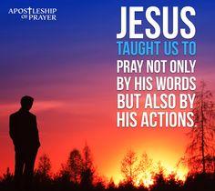 Jesus often withdrew to lonely places and prayed.  Luke 5:16  Catholic meme on prayer