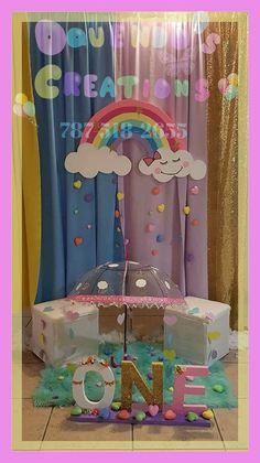 Birthday Tutu, Rainbow Birthday, Girl Birthday, Birthday Party Decorations, Birthday Parties, Cloud Party, Rainbow Brite, Ideas Para Fiestas, Baby Room Decor