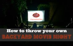 How to Transform Your Backyard for a Family Movie Night #PopcornPartyTime