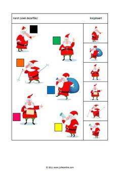 Knijpkaarten Kerst Groep 1/2 Worksheets, Santa, Activities, School, Christmas, Cards, Lisa, Christmas Activities, Cousins