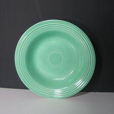 Vintage Fiestaware Original Green Deep Dish or Soup Bowl