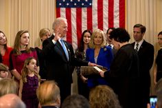 Vice President Biden Takes the Oath of Office