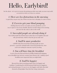 hmm I needed to read this bc lately I've been less of the happy morning person that I am..