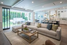 4056 Ventura Canyon Ave, Sherman Oaks, CA 91423 Zillow in 2019 House Design/Syle Open plan Contemporary Living Room Design Ideas Pictur. Home Living Room, Living Room Designs, Open Living Rooms, Living Room Sliding Doors, Living Spaces, Open Space Living, Living Room Carpet, Living Room Interior, Apartment Living