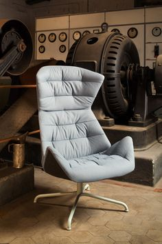 Subtly patterned lounge chair created for iconic furniture brand Thonet.