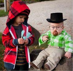 Breaking Bad Halloween costume for children, because parenting win.