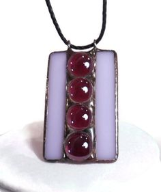 Stained Glass Jewelry Purple Nuggets Pendant Glass by coalchild