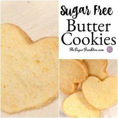 This is the best and most delicious and simple recipe for Sugar Free Butter Cookies are perfect for your next dessert or gathering! Low Sugar Cookies, Sugar Free Cookie Recipes, Diabetic Cookies, Sugar Free Deserts, Sugar Free Jello, Sugar Free Peanut Butter, Sugar Free Baking, Sugar Free Sweets, Sugar Free Chocolate Chips