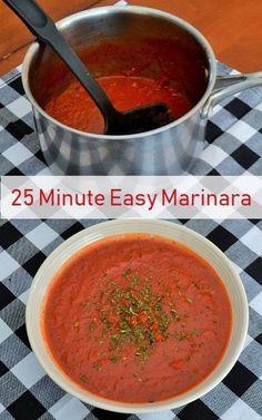 Easy 25 Minute Marinara Sauce by Jersey Girl Cooks #marinara #sauce #easyrecipe