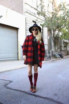 Gabrie check wool-blend coat Jacket