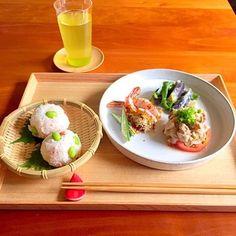 とっても爽やかなざるを使ったテーブルコーディネートです。和食とざるは本当に相性ぴったり!
