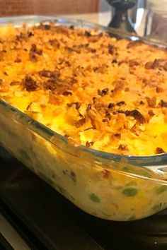 This comfort food casserole uses pantry ingredients for convenience and potato chips for crunch. Best Tuna Casserole, Tuna Casserole Recipes, Tuna Recipes, Casserole Dishes, Seafood Recipes, Cooking Recipes, Tuna Casserole With Rice, Tuna Macaroni Casserole, Hamburger Casserole