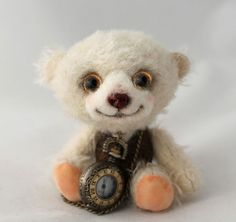 Mohair Teddy Bear OOAK Artist Jointed Character Bear by Emma Hall, Elouise Bears