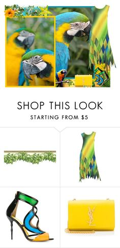 """""""Birds - Contest!"""" by asia-12 ❤ liked on Polyvore featuring Issey Miyake, Francesca Mambrini and Yves Saint Laurent"""