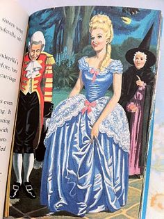 Oh I still have this one. As a child I would pretend it was me in each of the dresses. Ladybird book illustrations - Cinderella