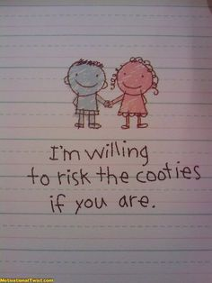 Risk the cooties.