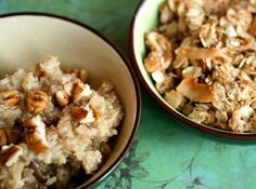 hot breakfast with quinoa, oats, and flax.  Need to try asap