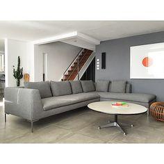 Home sweet Obsessilicious home. Our new B&B Italia Charles sofa.