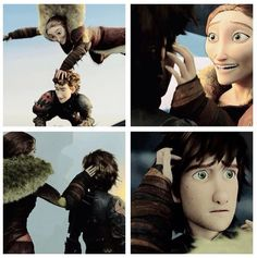 """Flying and bonding with mother // <3 // cute // """" Shoulder? Face? No, MUST. TOUCH. FLAWLESS. HAIR.. """" -Valka Lol"""
