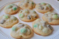 ..Mint Chocolate Chunk Cookies