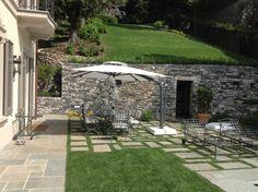 Outdoor Areas, Outdoor Dining, Outdoor Decor, Commercial Umbrellas, Cantilever Umbrella, Mediterranean Style, Garden Inspiration, Playground, Outdoor Umbrellas