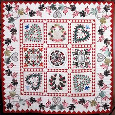 Odense Album quilt by Elly Sienkiewicz.  Baltimore Album Quilts | Fiber Arts Center of the Eastern Shore