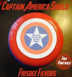 Captain America Shield Party Favors Free Printable