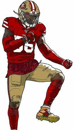 Deforest Buckner, Sports Drawings, Football Uniforms, Football Art, Football Wallpaper, San Francisco 49ers, Good Vibes, Rugby, Illustration