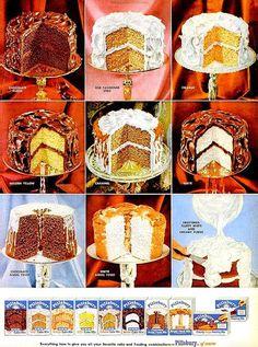 #25 1956 Pillsbury Cake Mix & Dr. West by ecofriendlyfreckles on Etsy
